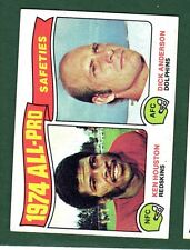1975 TOPPS FB #222 AP SAFETIES EX/MT