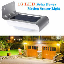 16-LED Solar Motion/Light Sensor Garden Security Light Outdoor Wall Lamp