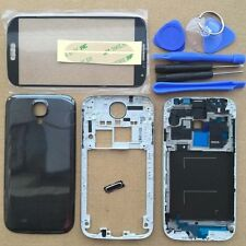 Full Housing Case Cover + Screen Glass For Samsung Galaxy S4 4G LTE i9505 Black