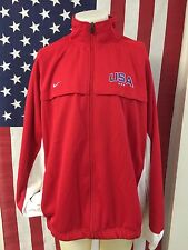 VTG�� Nike USA Olympic Team Track Top Red White Blue Sewn Jacket XLT XL-TALL
