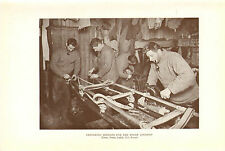 scotts last expedition 1913 plate - preparing sledges for the polar journey