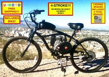 "4-STROKE BICYCLE MOTOR KIT COMPLETE DIY MOTORIZED BICYCLE KIT WITH 26"" BIKE!"