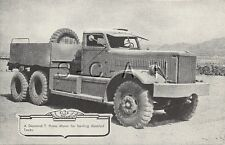 WWII US Lithograph- US Army- Armor- Diamond T Prime Mover for Disabled Tanks