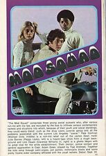 1968 TV PREMIERE AD/ARTICLE~MOD SQUAD~PEGGY LIPTON~MICHAEL COLE~CLARENCE WILLIAM
