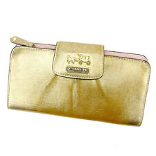 Auth  Coach Fastener Wallet Ladies used I439