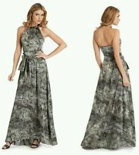♡♡♡$498 GUESS by Marciano Gia Maxi Cocktail SILK Dress Gown ♡♡♡