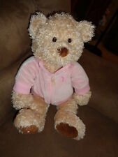 Bear Fuzzy Tan Breast Cancer Teddy Pink Jacket May Department Store GUND 2005