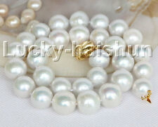 """NEW luster 18"""" 16mm white round Reborn keshi pearls necklace j11166"""