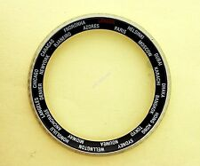 NEW SEIKO BEZEL W/ WORLD TIME INSERT FOR 6309 7040, 7290, 6306 & 7548 WATCH #059