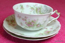 Haviland H&Co Limoges (Schleiger 57-8) CUP & TWO SAUCERS SET Blank 207 Exc