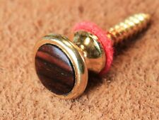 Strap Button, Gold, standard size with Cocobolo insert