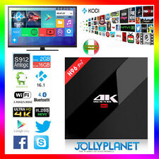 Android 6.0 H96 Pro Plus 2GB 16GB Octa-Core Kodi WIFI IPTV 4K Smart TV Box HD