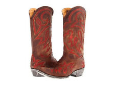 NEW IN BOX OLD GRINGO LAUREN INLAY WOMENS BOOTS BRASS RED SIZE 7