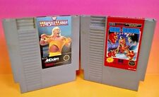 WWF WrestleMania + Tag Team Wrestling Nintendo Entertainment System NES 2 Games