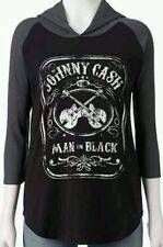 JOHNNY CASH ZION ROOTSWEAR THERMAL HOODIE HOODED XS EXTRA SMALL WOMENS TOP SHIRT