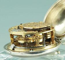 Frühe Onion Spindeluhr um 1700 Joshua Allsop London Doppelgehäuse verge fusee