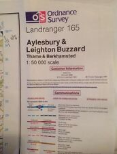 Ordnance Survey Landranger Map Sheet 165 Aylesbury And Leighton Buzzard