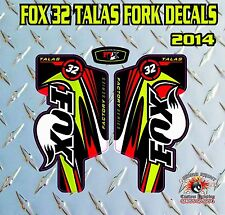 Fox 32 FORK Talas Stickers Decals Graphics Mountain Bike Down Hill MTB Red Green