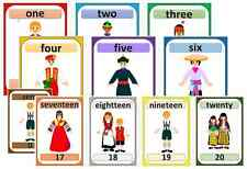 multicultural diversity people around the world flashcard numbers display to 100