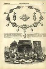 1858 Wedding Gifts Duchess Kent Prince Wales Necklace Earrings Dressing Case