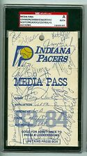 Los Angeles Lakers 1984 Team Signed Media Pass SGC Authentic Encased 1 of a kind