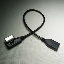 Music Interface Adapter Cable AMI MMI AUX USB Portable External Drives for Audi