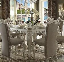 Acme Furniture White Versailles Dining Room Set Classic 5pcs Traditional