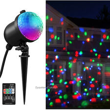 Ion Christmas Party Outdoor Lights Projector LED Motorized Holiday w/ Remote