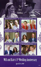 Union Island Gren St Vincent 2016 MNH Prince William & Kate 5th Wedding 6v M/S