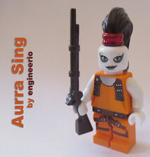 LEGO STAR WARS AURRA SING Custom MINIFIG figure minifigure bounty hunter 7930