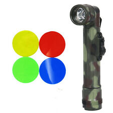 Army FLECKTARN Camo Right-Angle TL-142 TORCH - Small Military LED Flashlight