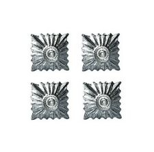 GERMAN ARMY SMALL SILVER RANK PIPS - 4 PACK - WW2 REPRO