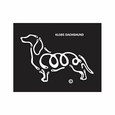 Dachshund Dog K-Lines Dog Car Window Tattoo Decal Sticker
