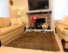 2' x 3'  PlushFurEver Fluff New Coyote Wolf Accent  Faux Fur Rectangle Area Rugs