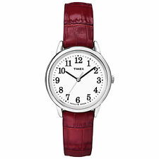 Timex TW2P68700, Women's Easy Reader, Leather Watch, Indiglo, TW2P687009J