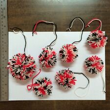 7 Yarn premium Pom Poms.assort color, multi size.Good for Decorating Gifts,Party