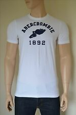 NUOVO Abercrombie & Fitch CANTINA Mountain Bianco TRACK & FIELD TEE T-SHIRT XL