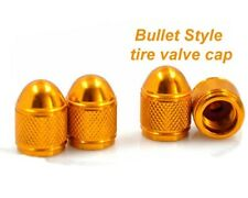 Golden Short Bullet Style Tire Valve Cap Universal Fit For All Vehicle