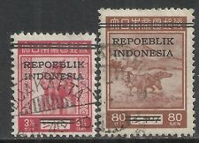 Java&Madoera stamps 1945 ZBL 10+16  CANC  VF