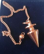 LOVELY SMALL COPPER PLATED CONICAL DOWSING PENDULUM & POUCH #2