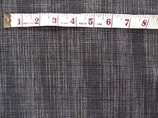 "Black Grey Cream Random Check Fabric Material Linen Mix 55"" wide by Metre"