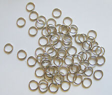 200 Antique Silver Tone Jump Rings - 8mm