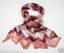 MISSONI Mohair ZigZag Scarf in Pink SA59PSD3381  0003
