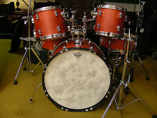 Sonor Force 2001 5 Piece Fusion Drum Kit Set Orange W/ FiberSkyn Heads w/ Hrdwr