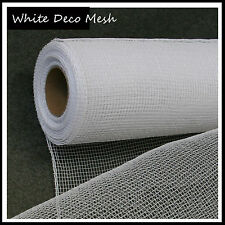 Deco Mesh White 21 inches by 10 yards - UK
