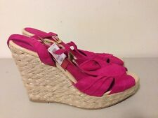 American Eagle Womens Size 10 Pink Fuchsia High Heels Wedges Shoes NEW
