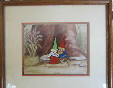GNOMES ANIMATED TV SPECIAL ORIGINAL HANDPAINTED PRODUCTION CEL LISA TOR FRAMED