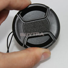 46mm Center Pinch Snap on Front Cap For Sony Canon Nikon Lens Filter Black usefu