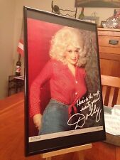 "1 BIG 11X17 FRAMED ORIGINAL DOLLY PARTON LP ALBUM CD ""PROMO AD"" - choose from 7!"