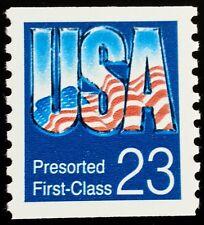 1992 23c  U.S.A. Pre-sorted 1st Class, Coil Scott 2607 Mint F/VF NH